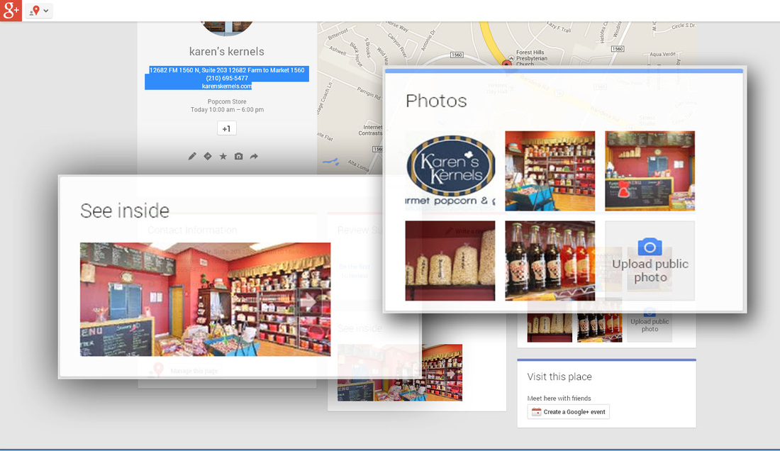 Picture - detils of photo update on a Google+ page.